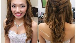 Wedding Dinner Hairstyle Wedding Dinner Makeup & Hairdo Princess Braided Wavy