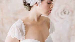 Wedding Hairstyles Art Deco Art Deco Inspired Feather Bridal Headpiece by Danani