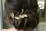 Wedding Hairstyles Brunette Loose Curls Updo Wedding Hairstyle 2018 Hair Makeup