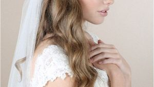 Wedding Hairstyles Curly Hair Veil Loose Wedding Hairstyles with Veil Hair Ideas In 2018