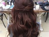 Wedding Hairstyles Half Up Bridesmaids Wedding Hair Half Up Half Down Hair Pinterest