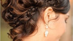 Wedding Hairstyles with Braids and Curls Curly Wedding Updos Curly Wedding Updo with Braid