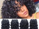 Wet N Curly Hairstyles Brazilian Curly Human Hair Weave 4 Bundles Unprocessed Virgin Remy