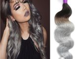 Wet N Curly Hairstyles Grey Wet and Wavy Virgin Brazilian Ombre Hair Extensions Gray
